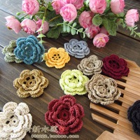 Free shipping Fashion design4 colors 50 pics handmade girl head wear accessories crochet stereo 100% cotton multicolour doily