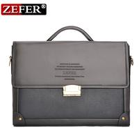 28*38*7CM New 2014 Fashion Brand Genuine Pu Leather Men's Briefcase bag, Business Handbag, Men Messenger Bag, men's travel bag
