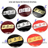 2.6Inches  one sets 4pcs BBS 3D Wheel Center Sticker Badges Emblem 65mm