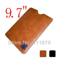 Leather Brown/black artifical bag/case for 9.7 inch tablet pc ebook reader Leather case for Epad protect cases cover bag
