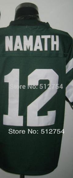 #12 Joe Namath Jersey,Throwback Football Jersey,Best quality,Authentic Jersey,Size M--3XL,Accept Mix Order(China (Mainland))