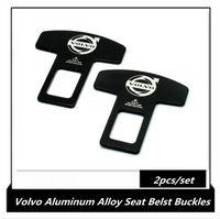 Aluminum Alloy Seatbelt buckles, Volvo Badge emblem seat belt buckle 2pcs/set
