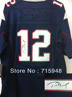 2013 New Signature Elite Jerseys 12 Tom Brady Jersey Blue Size 40-60 Mix Order All American Football Jerseys Sittched