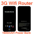 3 in 1 3G WIFI Router wireless Card Reader Router Charger For iPad iPhone 4 4s Black,1600mah Power Bank +Color Box,Free Shipping(China (Mainland))