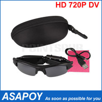 Mini 720P HD DV DVR Sunglasses Camera Audio Video Recorder.Free shipping