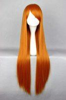 80cm Long EVA-Asuka Orange Cosplay Costume Wig