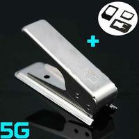 Micro SIM Card to Nano Sim Card Cutter + 3x SIM Adapter for New iPhone 5 5G 5th