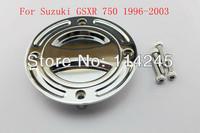 motorcycle parts Chrome Keyless Fuel Tank Gas Cap For Suzuki GSXR 750 1996 1997 1998 1999 2000 2001 2002 2003