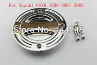 motorcycle parts Chrome Keyless Fuel Tank Gas Cap For Suzuki GSXR 1000 2001 2002