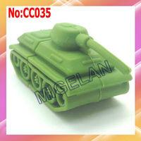 2013 promotion top fasion stock wholesale plastic Green tank USB 2.0 flash drive free shipping 16GB pendrive #CC035