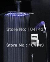 "8"" LED Shower Head Bathroom Rainfall Shower Complete Faucet Shower Set 50016a/3"
