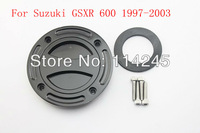 100% Brand New motorcycle parts Black Keyless Fuel Tank Gas Cap For Suzuki GSXR 600 1997 1998 1999 2000 2001 2002 2003