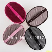 2013 Fashion satin stripe cosmetic bag professional women's cosmetic bag Small travel storage bag free shipping drop shipping