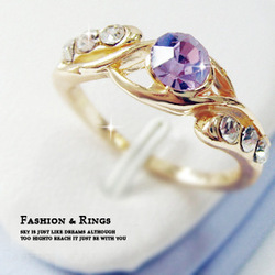 Korean jewelry rings fashion jewelry wholesale trade mixed batch night market supply color retention plating gold JZ-031(China (Mainland))