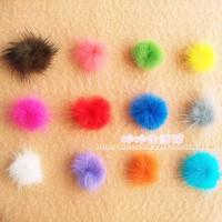 Nail art accessories fur ball mink ball handmade nail art floccular Phone beauty Mobile phone accessories 25MM