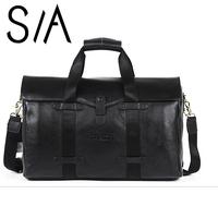 2014 Genuine Leather handbag Commercial Briefcase vintage shoulder bags messenger bag large capacity handbags Men's business bag