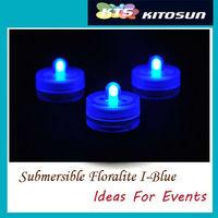 10 Blue LED Submersible Tea Lights Centerpieces Decoration Lights Waterproof Replaceable Xmas Wedding