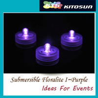 10 Purple Centerpieces led light SUBMERSIBLE WATERPROOF LED DECOR FLORAL LIGHTS FOR WEDDING/holidays/Christmas/ValentinePARTY