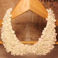 2013 New Acrylic Crystal Pearl Paillette Vintage Decoration Shirt  False Collar Necklace Black White