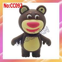 Free shipping wholesale1GB 2GB 4GB 8GB16GB 32GB 64GB Bear USB Flash Drive With Hi-Speed Chip+100% Real capacity #CC092