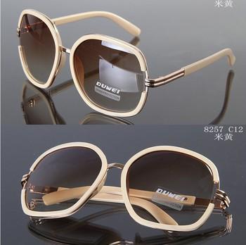 8257 elegant fashion quality sunglasses women vintage, with box Good design large ...