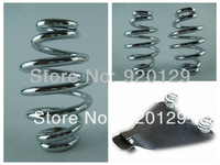 "The NEW Chrome 3 ""Barrel Coiled Solo Seat Springs for Harley Chopper Bobber Softail free shipping"