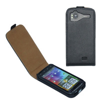 Genuine Leather Flip Case For HTC sensation G14, sensation XE G18 + Free Shipping