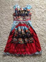 Free Shipping 2014 Fashion Designer Runway Dress Women's Catwalk Vintage Digital Printed Georgette Silk Dress S-3XL