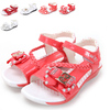Dorp Free Shipping New style Summer Fashion Diamante Flower Glisten PU Princess Kid Shoes children sandals girl Flip Flops(China (Mainland))