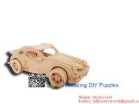 3D puzzles wood Intelligent toys DIY toys assembling model toys PSJ CAR