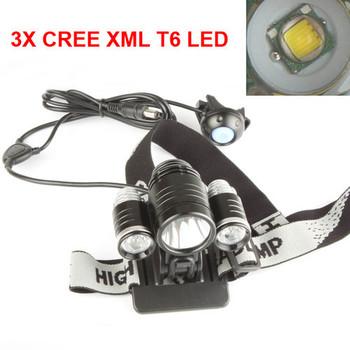 3X CREE XM-L XML T6 LED 3800Lm Bike Bicycle Light Lamp LED Headlamp Head Torch