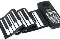 Promotion Newest 61 Keys Flexible Portable Roll Up Electronic Piano Soft Silicone Keyboard Midi Digital Synthesizer
