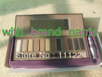FREE DHL/EMS (10pcs/lot) Wholesale Best hot sale 12 colors UD eyeshadow pallet  with brand logo UD