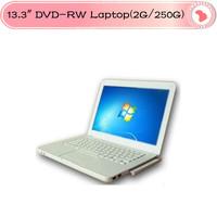 "2013  Laptop  13.3"" D2500  win 7 os Notebook DVD-RW, 2GB Ram, 250GB HDD,Webcam, WIFI"