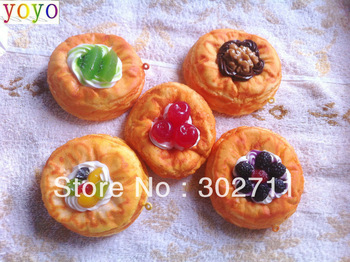 new fruit egg tart squishy phone charm  /free shipping