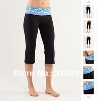 free shiping fee EMS EXPESS,hot yoga wear lululemon Groove crops  black/bfwp/wswp  size:2,4,6,8,10