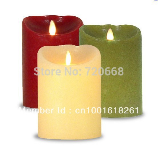 Battery operated wick dancing led candle(China (Mainland))