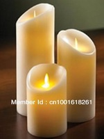 Battery operated wick dancing led candle