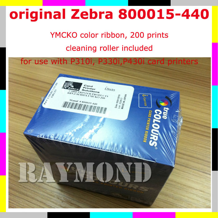 Zebra i Series YMCKO Ribbon 800015-440 - 200 Print for P310i P320i P330i P420i P430i and P520i(China (Mainland))