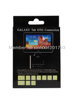 5+1 in 1 USB OTG camera Connection Kit Card Reader for Samsung Galaxy Tab N8000 P7310 P7510 USB hub Retail package DHL free ship