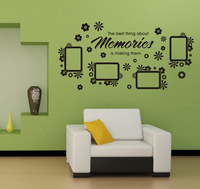 flower photo frame wall sticker photo wallpaper murals decorating small living rooms sofa decal poster