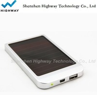 Emergency 2600mA/h solar cell phone charger