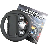 Free shipping,Digital Steering Wheel With Speaker For iPhone 4 4G 3 3G with retail box