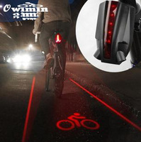 NEW Cycling Bike Bicycle Laser Tail Light Logo Projection Safety Rear Light