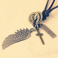 (Min order $10USD)Fashion vintage male Women fashion non-mainstream necklace long design necklace