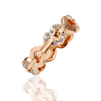 18KRG PR012 18K Rose Gold Plated Dimond heart the Ring o bague women anel  joias de pedras preciosas aneis para as mulheres