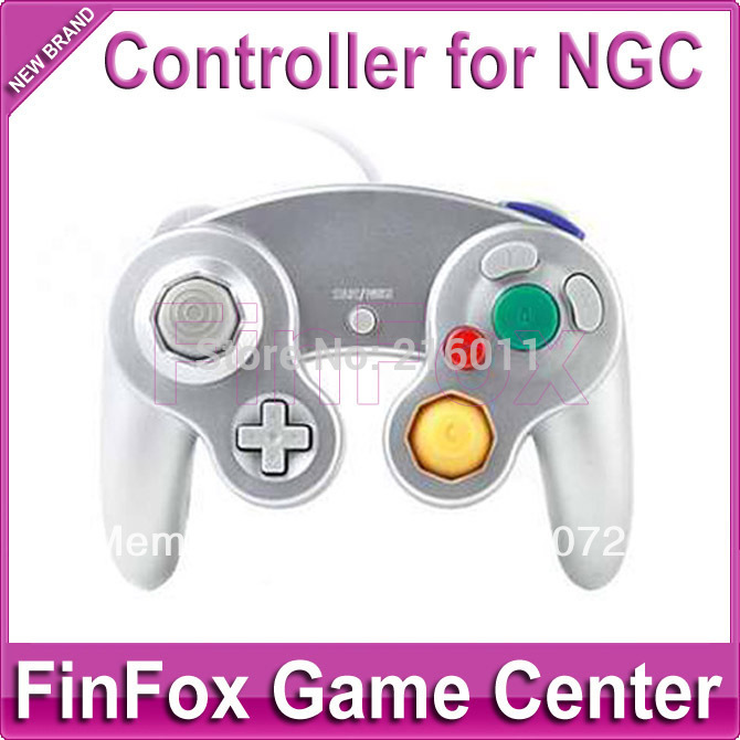 Wired Game Controller With One Button for Nintendo Game Cube NGC (Silvery)(China (Mainland))