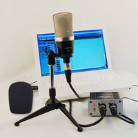 Free shipping,High performance FET condenser microphone,Studio and Recording microphone,recording economic set