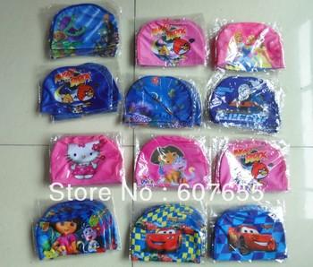 New 2014 Free Shipping 20pcs/lot Children Swimming Cap,Swimming Hats,Swim Dress