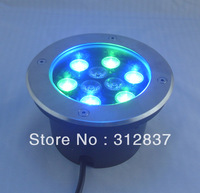 Freeshipping 10pcs/lot AC12V 9W High power RGB Led buried light lamp,D160*H60MM, IP67,Wholesale